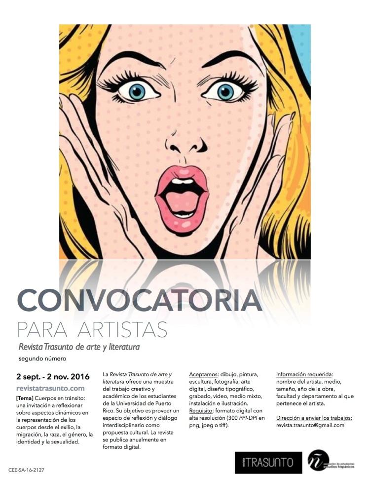 FLYER CONVOCATORIA DE ARTE 2 TRASUNTO